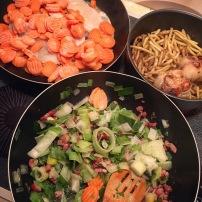 Préparation des repas de la semaine